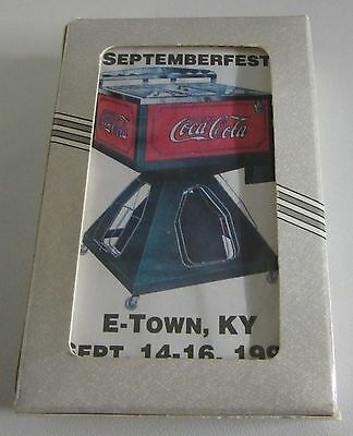 Coca-Cola playing cards sealed Deck 19th Annual Septemberfest E-Town, KY 1995