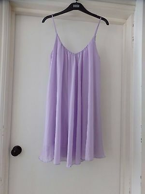 Ladies/Woman's Sample Floaty Lilac Summer Dress Size 8
