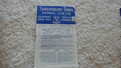 57/58 Shrewsbury Town V Oldham Athletic