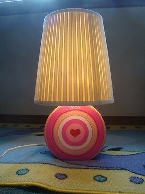 BARBIE::LAMP SHADE And CERAMIC BASE--Rarely Used & LIKE NEW