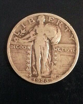 Standing Liberty Quarter 1928-S  scarce LARGE S Variety! SEE OUR OTHER ITEMS !!