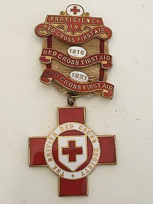 British Red Cross Medal for proficiency in red cross first aid WW1 1916 1921
