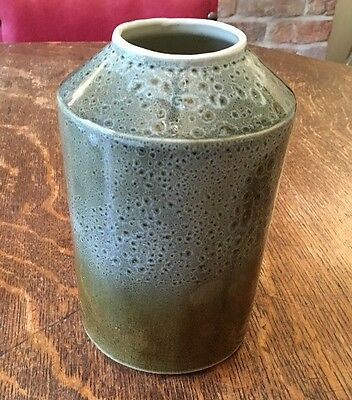 Fosters Of Cornwall Green/ Brown Honeycomb Effect Large Vase - 19.5cm