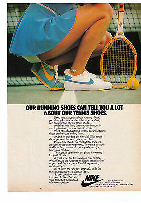 "1978 Nike ""Lady All Courts"" Vintage Tennis Shoe Print Advertisement"