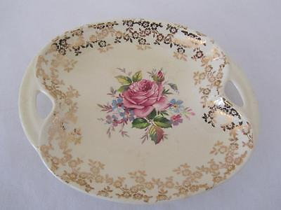 Vintage LORD NELSON WARE Handled Serving Dish 3081 Pink Roses Elijah Cotton