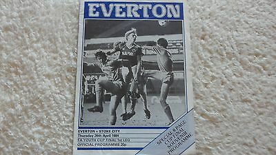 83/84 Everton V Stoke City Fa Youth Cup Final
