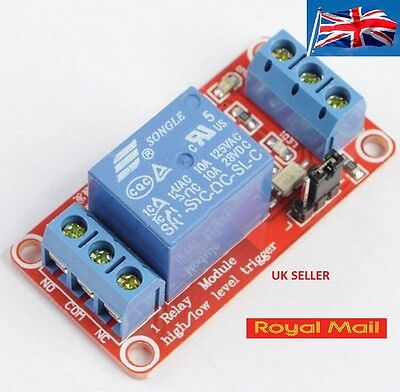12V 1 Channel Relay unit Module Optocoupler High and Low Level Trigger #B296