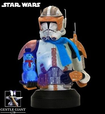 Gentle Giant Commander Cody Holiday Mini Bust exclusive no sideshow, attakus