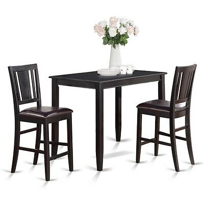 East West Furniture 3 Pc Counter Height Dining Set High Table And 2 Stools  NEW