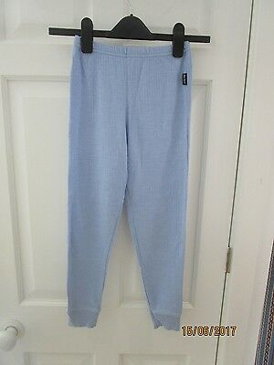 Peter Storm Child's Ski Thermals. Age 9-10. Baby blue long johns.