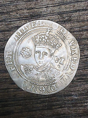 Edward VI hammered silver sixpence