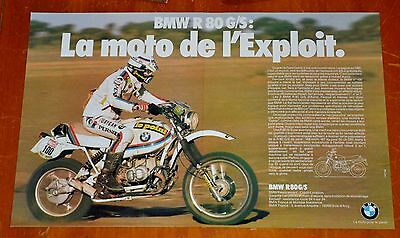 French 1981 Bmw R80 G/s Motorcycle Dirt Bike Ad - Retro Vintage 80S Moto