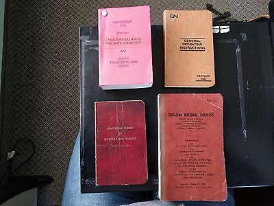 Lot of 4 CN Railway Employee Books (Code of Rules, 4.16 Agreement, 1987 GOI,etc)