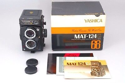 【MINT !!】Yashica Mat 124 G 6x6 TLR w/Yashinon 80mm F/3.5 W/Box From Japan #1271