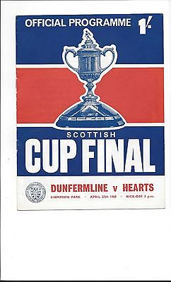 SCOTTISH CUP FINAL 1968 Dunfermline v Hearts,