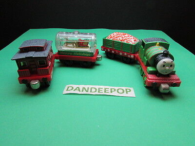 Thomas The Tank Engine Take Along Diecast Holiday Edition 4 piece Percy Train