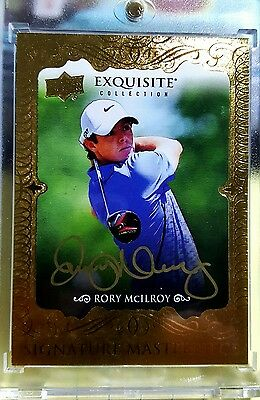 2013-14 UD Golf Exquisite Rory Mcilroy  Rookie Gold Auto SSP