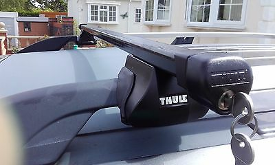Thule Roof Bars 2 = 1 Pair, Lockable with Keys and Adjustable.