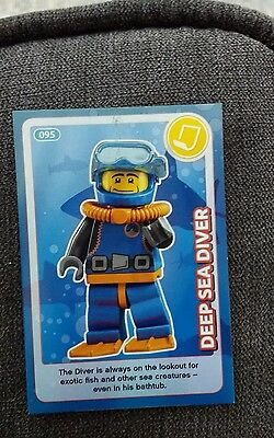 Lego create the world by Sainsbury's card no 95 deep sea diver