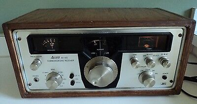 VTG Allied Radio Shack Communications Receiver Model AX-190 w/ Wood Cabinet