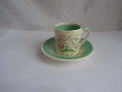 Susie Cooper Dresden Spray Coffee Can and Saucer
