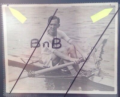 Real Press Photo Unknown 1930s Rower