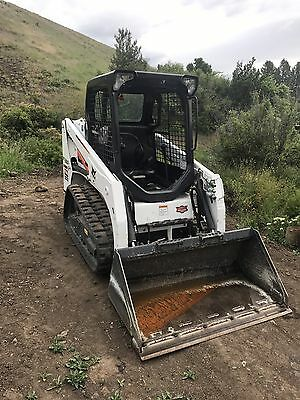 2015 Bobcat T450 Rubber Track Skid Steer Loader Low Hours