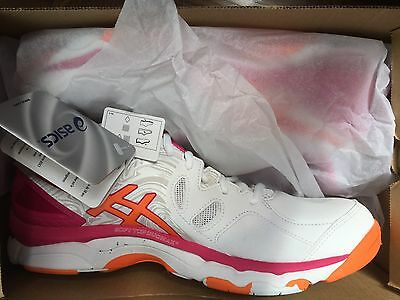 Asics Pink and Orange Netball Trainers Size 7