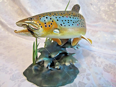 Noble Brown Franz Dutzlere Trout Treasures sculpture collection The Danbury Mint