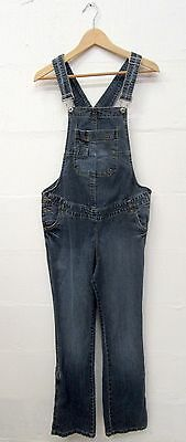 VINTAGE YESSICA C&A 90's BLUE DENIM OPEN DUNGAREES SIZE 16 FESTIVAL ROCKABILLY