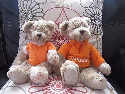 Pair Of Soft Plush Gulliver Teddy Bears From Easyjet Airlines By Russ Berrie