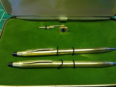 IBM 2nd Service Award and Cross Pen & Pencil Set in presentation case.