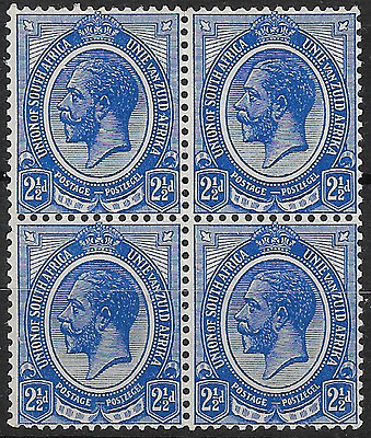 South Africa 1913 KGV SG7 2½d Block of 4 Unmounted Mint #1