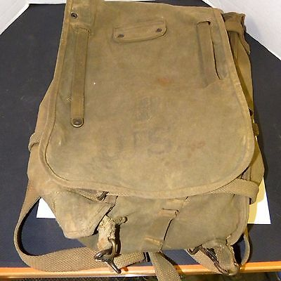US Original WWI Backpack Canvas dated 1918