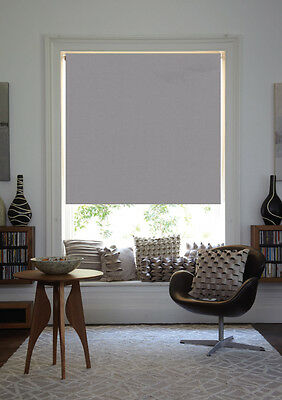 Blackout Roller Blind FLINT GREY Thermal  Made to Measure  Plain Design
