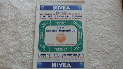 2002 Youth Tournement Inc Liverpool Manchester United In Austria
