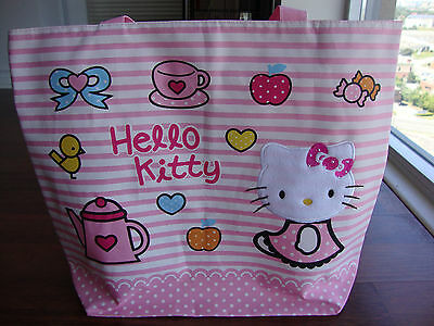 Hello Kitty Travel Luggage Tote Shopping Shoulder Hand Big Bag  With Zipper
