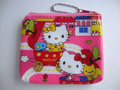 Hello Kitty Lovely Pink Color Coin, Card, Wallet, Keychian Bag Purse Zipper