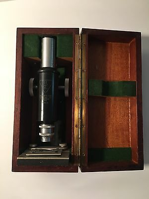 LOT IDA0317 Antique Bausch & Lomb OPTICAL CO. MICROSCOPE IN BOX