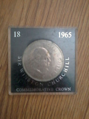 winston churchill commemorative crown coin 1965