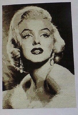 Marilyn Monroe Completed Cross Stitch Picture