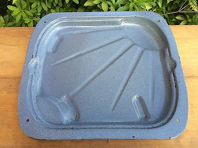 Vtg Sunburst Award Winning Roper Range Replacement Granite Enamel Broiler Pan GC