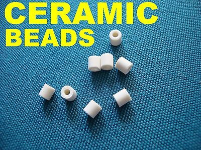 Pk of 250 3.5mm long Ceramic Bead Insulator Spacer for Electronic Components NEW