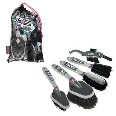 Motorcycle Muc-Off 5 Piece Premium Cleaning Brush Set UK Seller