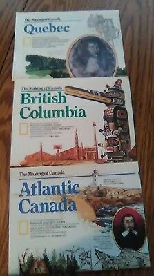 Lot of 3 National Geographic Inserts making of Canada