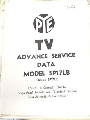 pye tv service manual model sp17lb