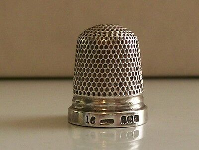 Henry Griffiths & Sons Silver Thimble Hallmarked Birmingham 1920
