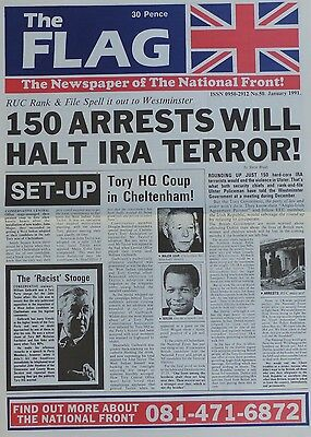 National Front Newspaper - The Flag - No 50 - Jan 1991