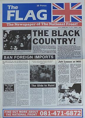 National Front Newspaper - The Flag - No 53 - Apr 1991