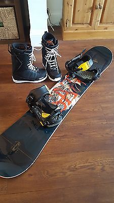 Solomon Assasin Snowboard Bindings and Boots